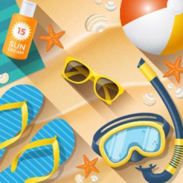 Sizzling Summer Website Template Feature 268x250px